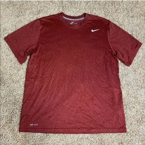 Nike Dri Fit Shirt Mens Size Large Red Athletic